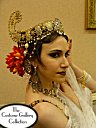 Side view: Headdress close-up