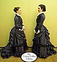 1870s Upper Class Bustle Dress