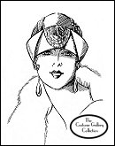 Subscribers click on this image for the designer Marie Crozet's turban hat enlargement