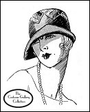 Subscribers click on this image for the designer Marie Crozet's clouche hat enlargement