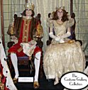 King Felix III & Queen's Costumes: Front View: Full Length