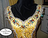 Queen Gown: Front View: Close-up