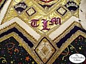 Queen's Coronation Robes: Train Monogram