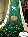King's Coronation Robes Train: Close-up