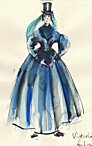 click for enlargement of Queen Victoria's Riding Habit Costume
