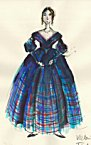 click for enlargement of Queen Victoria's Tartan Day Dress